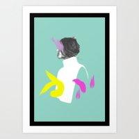 Colour Strokes No. 2 Art Print