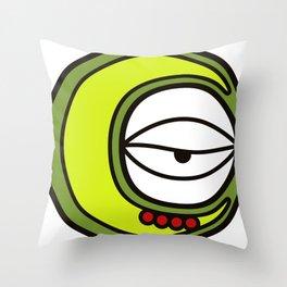 Moon Goddess with Coffee Leaf Eye-lash [Spa Ixchel] Throw Pillow