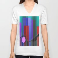 band V-neck T-shirts featuring Jazz Band by Kristine Rae Hanning