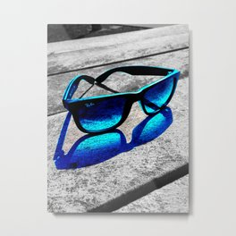 Ray-Ban Blue Metal Print