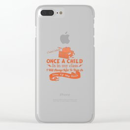 A Teacher's Confession Clear iPhone Case