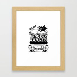 Bangkok Burger Framed Art Print