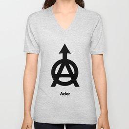 Alchemy Symbol Acier Unisex V-Neck