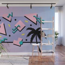 Memphis Pattern 25 - Miami Vice / 80s Retro / Palm Tree Wall Mural