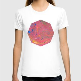 Marbling 3, Tie Dye Effect Abstract Pattern T-shirt