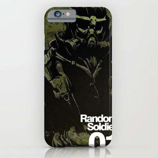 Random Solider 01 iPhone & iPod Case