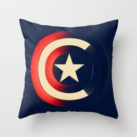 captain Throw Pillows featuring Captain by Ian Wilding