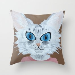 Baby the Cat Throw Pillow