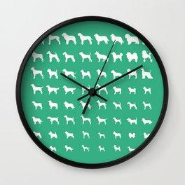All Dogs (Mint) Wall Clock