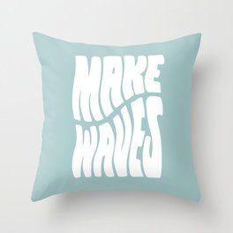 Make Waves Throw Pillow