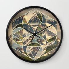 Geometric mountains 1 Wall Clock