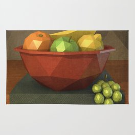 Low-polygon style still life painting Rug