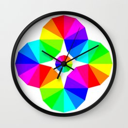 Twisted 12 Color Wheel Eye Wall Clock
