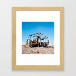Desert Wreckage Framed Art Print