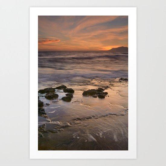 Beautiful red sunset Art Print
