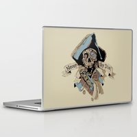 the goonies Laptop & iPad Skins featuring One Eyed Willy Never Say Die - The Goonies by MarcoMellark