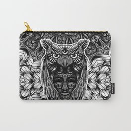 Owl and face Carry-All Pouch