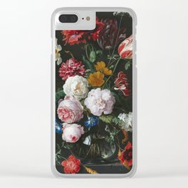 Jan Davidsz De Heem - Still Life With Flowers In A Glass Vase Clear iPhone Case