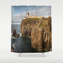 Neist Point Lighthouse Shower Curtain