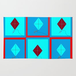 Grandma's Kites Quilt, My Version Rug