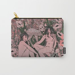Two Sisters III: Blush & Anemone Carry-All Pouch