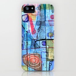 Open Abstract 1 iPhone Case