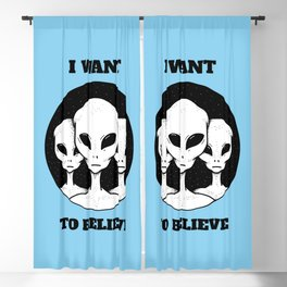 I Want To Believe Blackout Curtain