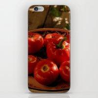 vegetables iPhone & iPod Skins featuring Red vegetables by Svetlana Korneliuk