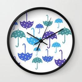 Umbrella pattern Wall Clock