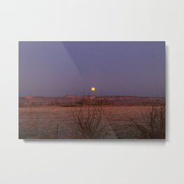 Setting Sagebrush Moon Metal Print
