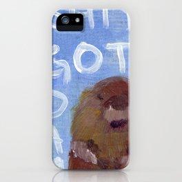i'm a little beaver i was living in a dam iPhone Case