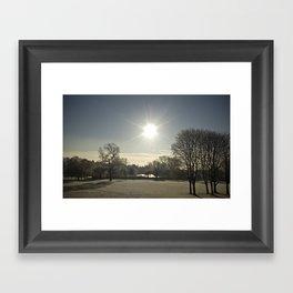 Wicksteed Park in Winter Framed Art Print