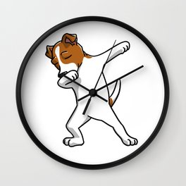 Funny Jack Russell Terrier Dabbing Wall Clock
