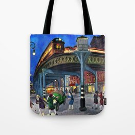 Classical Masterpiece 'Sixth Avenue Elevated at Third Street' New York City by John Sloan Tote Bag