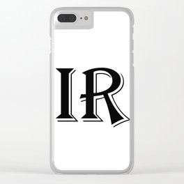 Inverse Reaction Clear iPhone Case