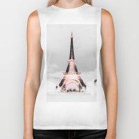 blankets Biker Tanks featuring pariS Black & White + Pink by 2sweet4words Designs