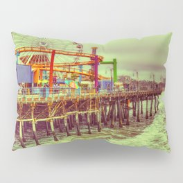 Santa Monica pier. Pillow Sham