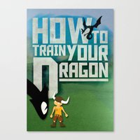 how to train your dragon Canvas Prints featuring HOW TO TRAIN YOUR DRAGON - Fantasy | Animation | Movie | Fantastic | Childer | Sci-fi by Gianluca Lucchese