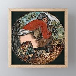 Brueghel's The Flatterers - Der Roj study Framed Mini Art Print