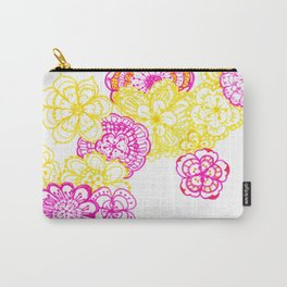 28. Colourful Pink and Yellow Flower in Henna World Carry-All Pouch