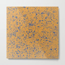 Abstract color mix Pollock Metal Print