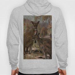 Vintage Kangaroo Painting (1909) Hoody