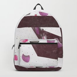 Geometric abstract free climbing bouldering holds pink purple Backpack