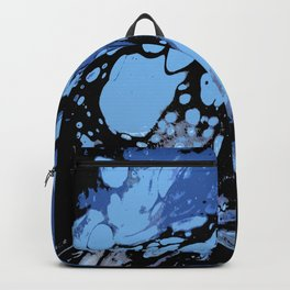 Blues and Black ; Fluid Abstract 49 Backpack