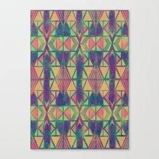 Nabu Tribal Lime Canvas Print
