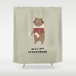 William Shakesbear Shower Curtain
