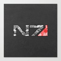 "n7 Canvas Prints featuring ""My Favorite Things"" N7 by Helenasia"