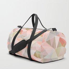Broken glass in warm colors. Duffle Bag