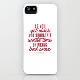 As You Get Older (Red) iPhone Case