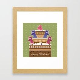 Birthday cake scotties - 4 years! Framed Art Print